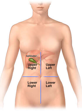 Location of Gallbladder